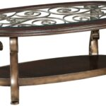 standard furniture bombay old world cocktail table with glass top products color wood end and scroll legs pub set black metal pipe riverside coventry temecula murrieta tables for 150x150