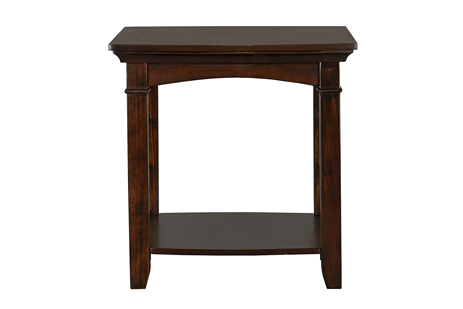 standard furniture glasgow rectangle end table dark cherry wood tables brown kitchen dining living room coffee saarinen riverside entertainment wall unit broyhill with storage