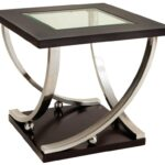 standard furniture melrose square end table with glass products color top black oval coffee magazine rack side lamp small round kitchen endota marion home outdoor royal waltham 150x150