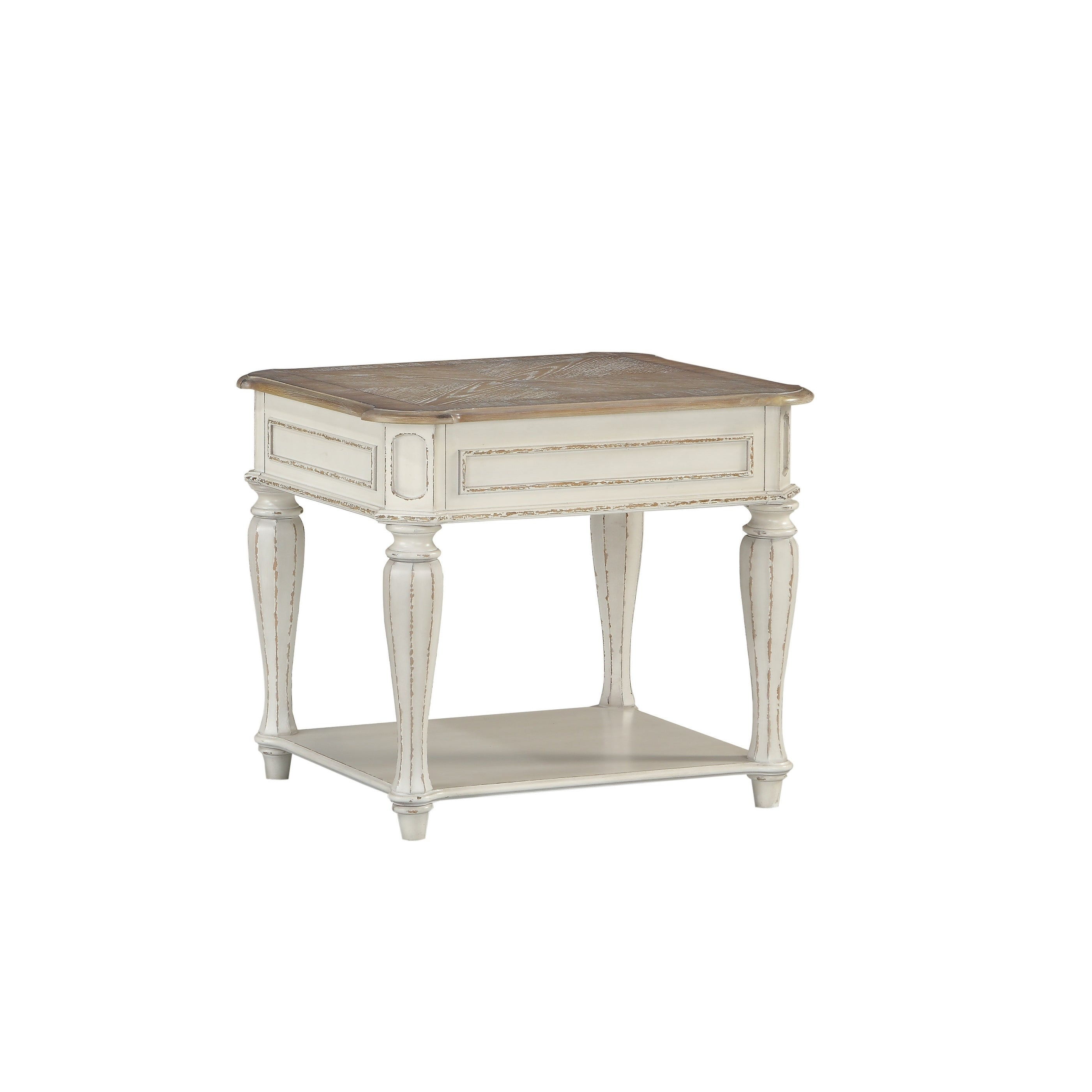 standard furniture stevenson manor white wood end table distressed finish tables free shipping today round sectional sofa hooker crown pet crate west elm industrial storage