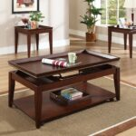 steve silver clemens rectangular cherry wood lift top piece coffee end tables living room table set royal furniture house full round plastic patio and chairs cube mainstays 150x150