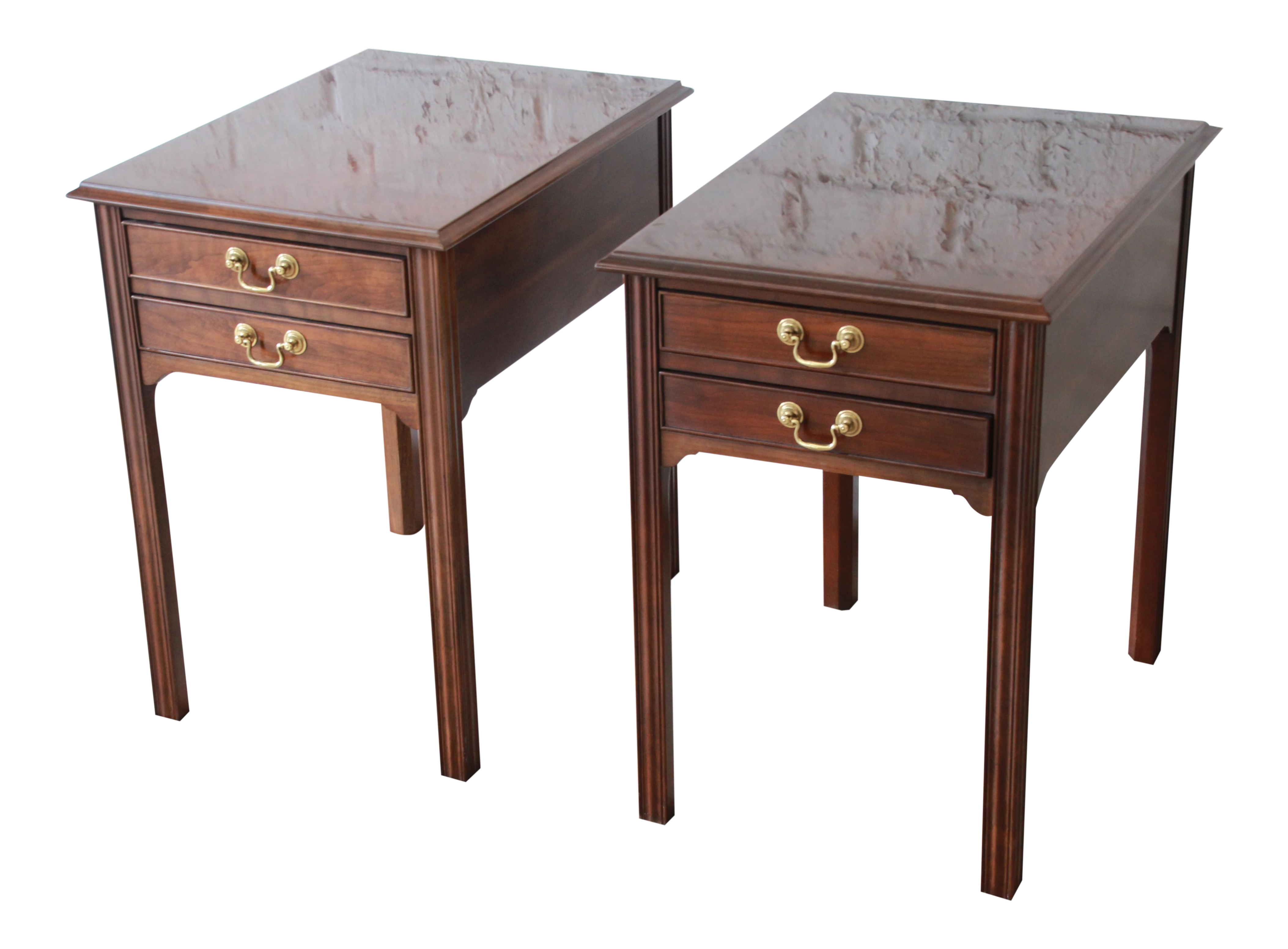 stickley style cherry wood nightstands end and tables pair chairish unfinished pub table kmart furniture bear accent universal long for hallway navy blue nightstand patio glass