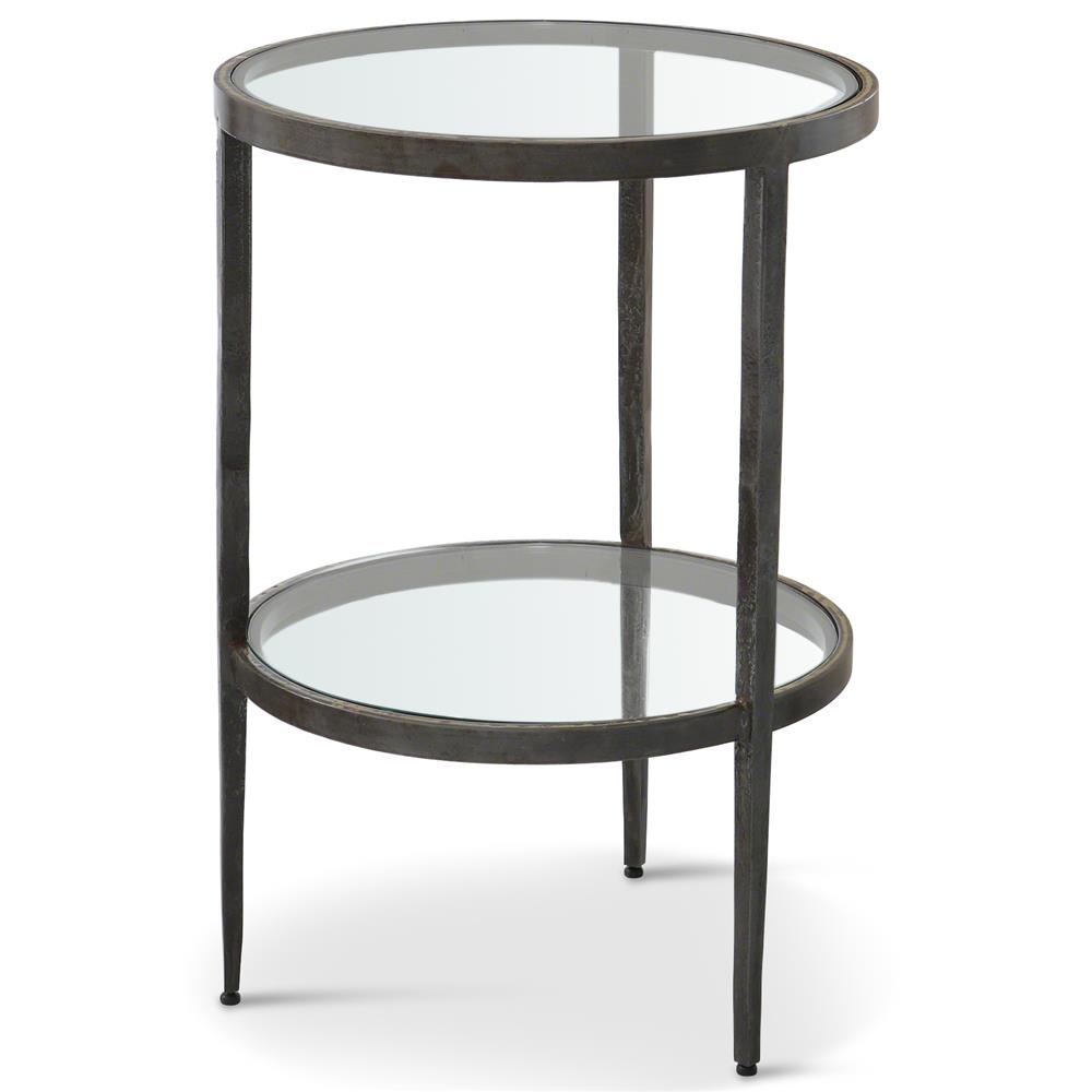 stout industrial loft double glass shelf iron brass side end table product kathy kuo home when does big lots close henzler hanging entertainment center alexander julian dining