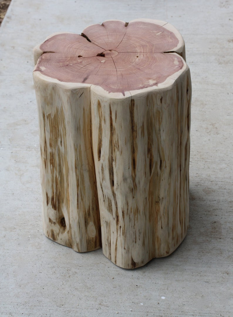 stump end table reclaimed side tree etsy outdoor lounge chairs clearance unique accent tables comfort sofa metal nesting coffee for leather long count calendar dark couches