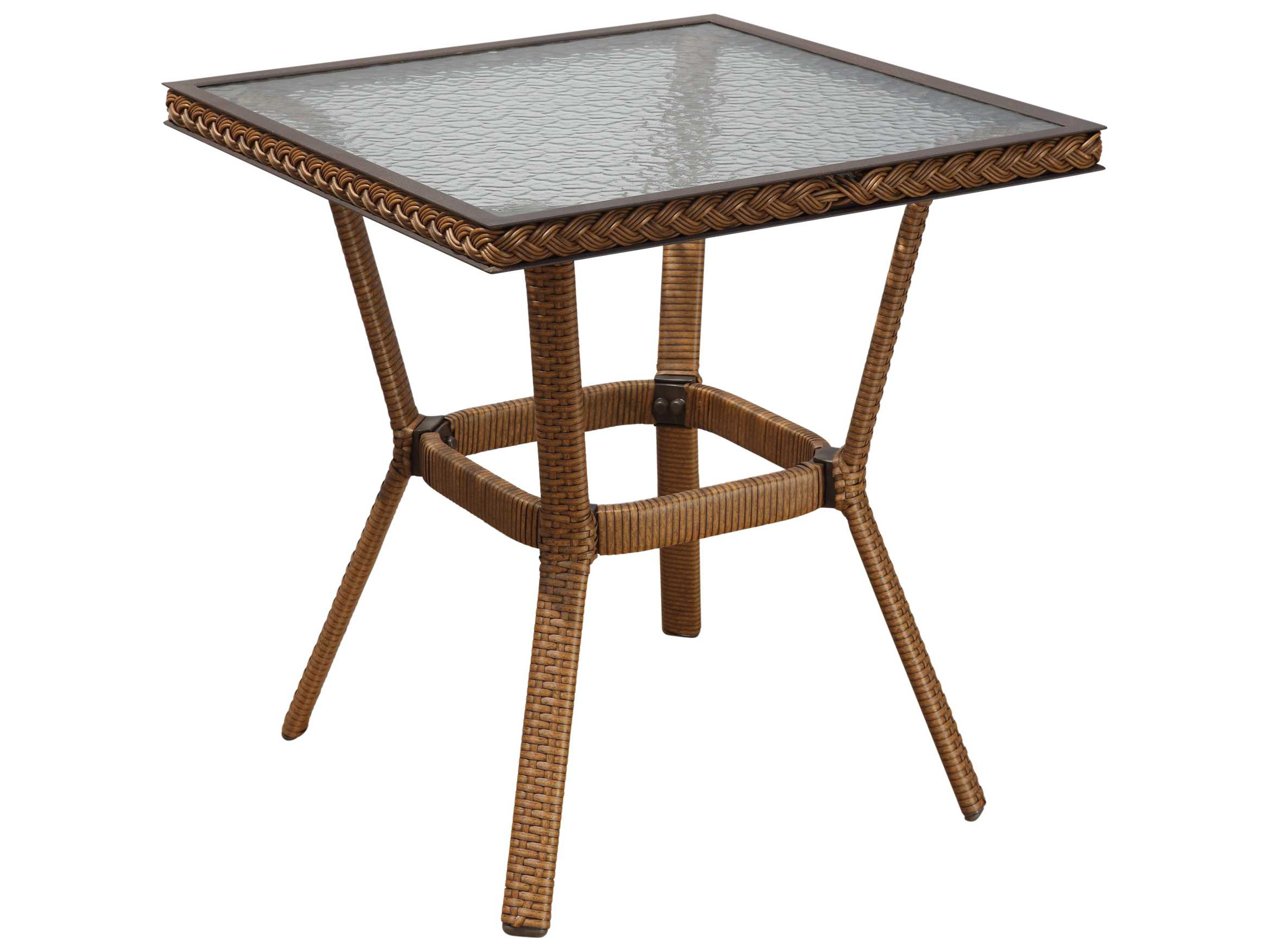 suncoast kona wicker rectangular glass end table hover zoom black gloss dining iron and antique outdoor furniture top patio tables easy nightstand plans living room stand