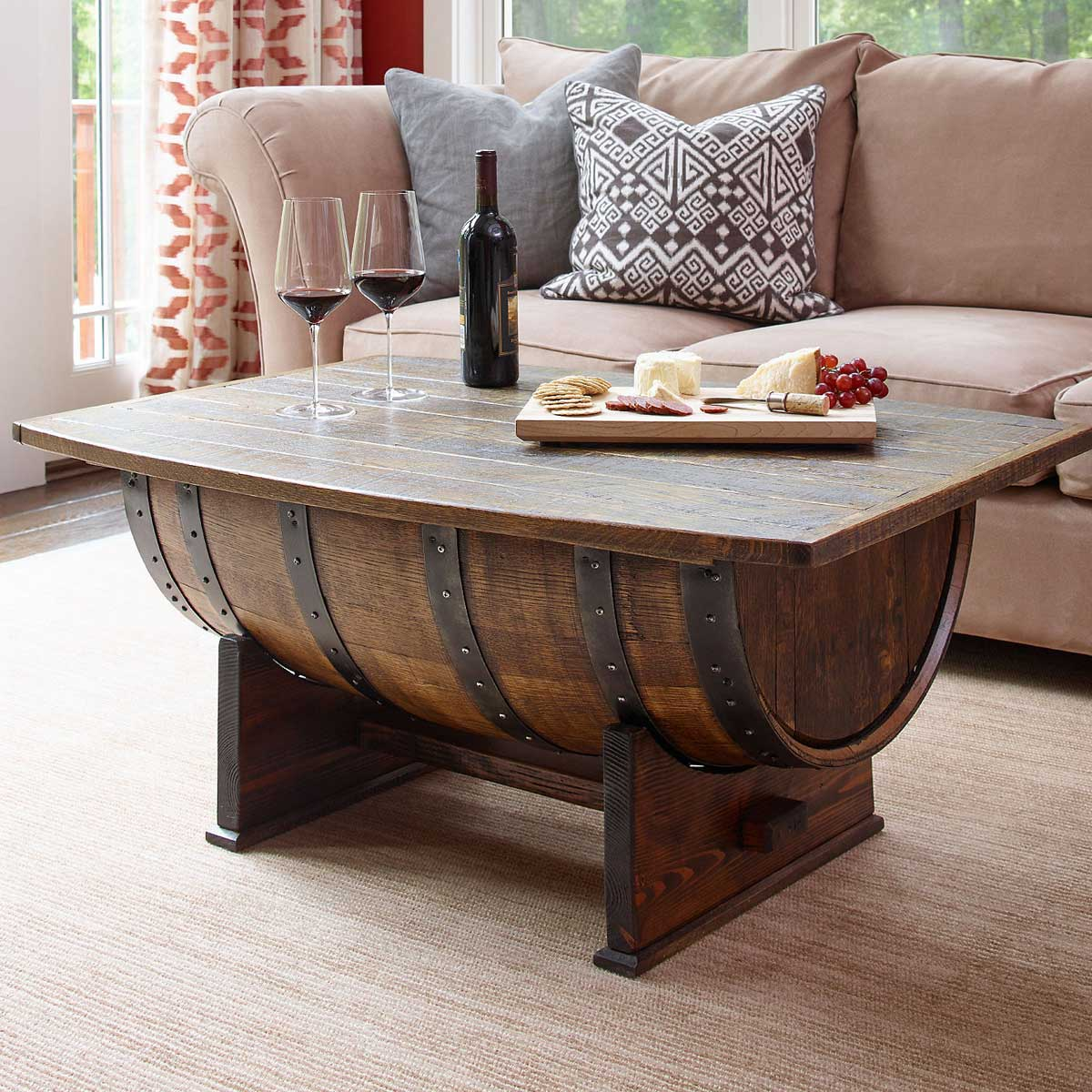super cool homemade coffee table ideas unusual tables whiskeytable wood end diy whiskey barrel saarinen side lexington furniture dresser laura ashley bar stools futon lounger