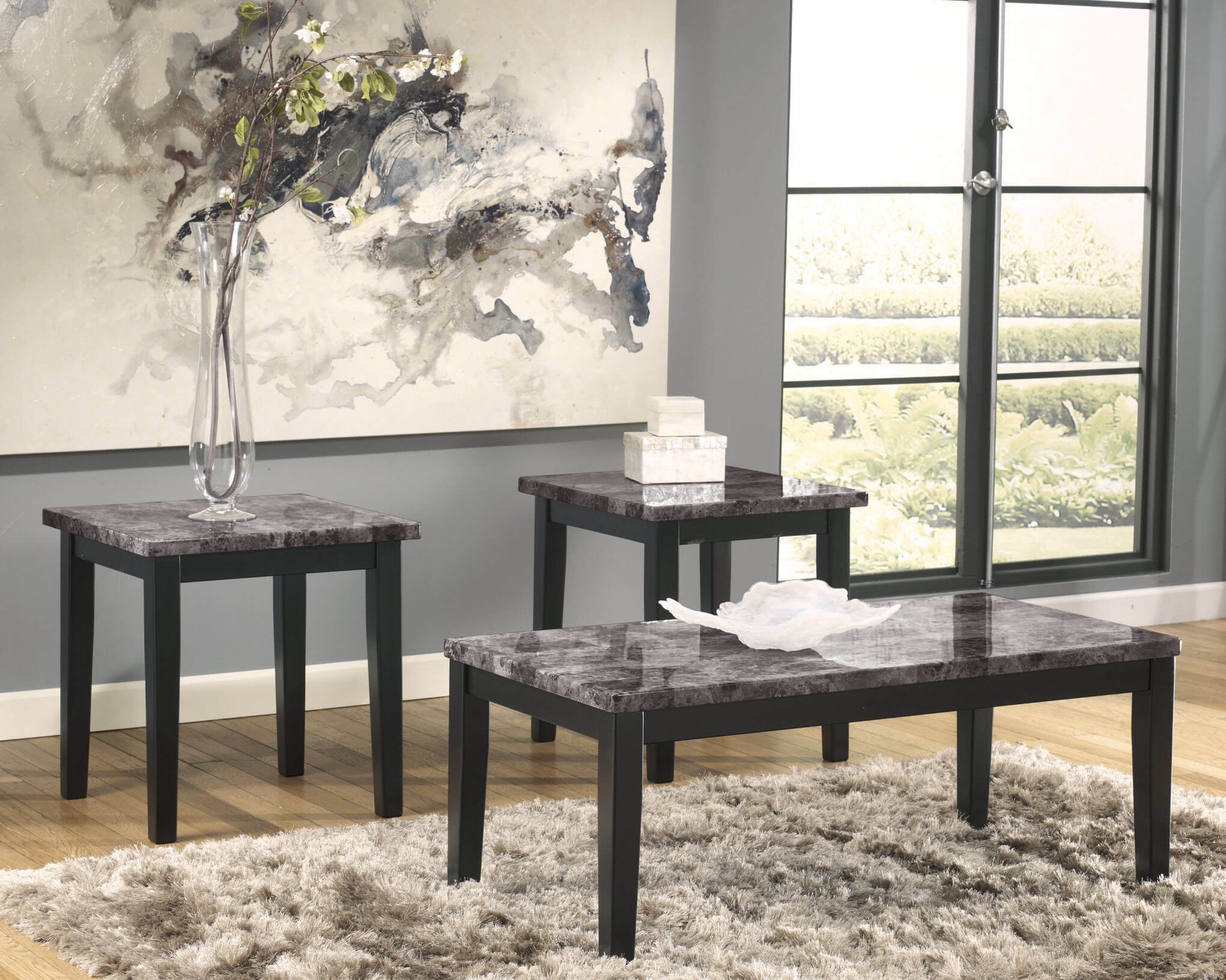 sville black marble coffee and end table set ashley ash tables dual dog kennel where are laura sofas made map white gold home hardware outdoor chairs antique mahogany nightstand
