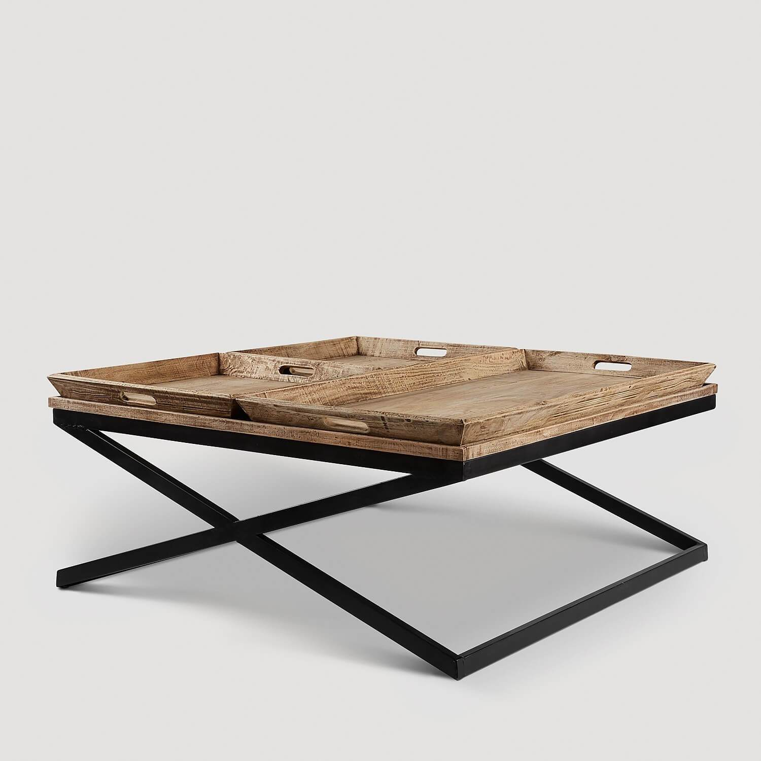 swazi coffee table with tray koala living end inch high console decorations made from pallets above toilet storage long count calendar log furniture bits linea brooklyn leather