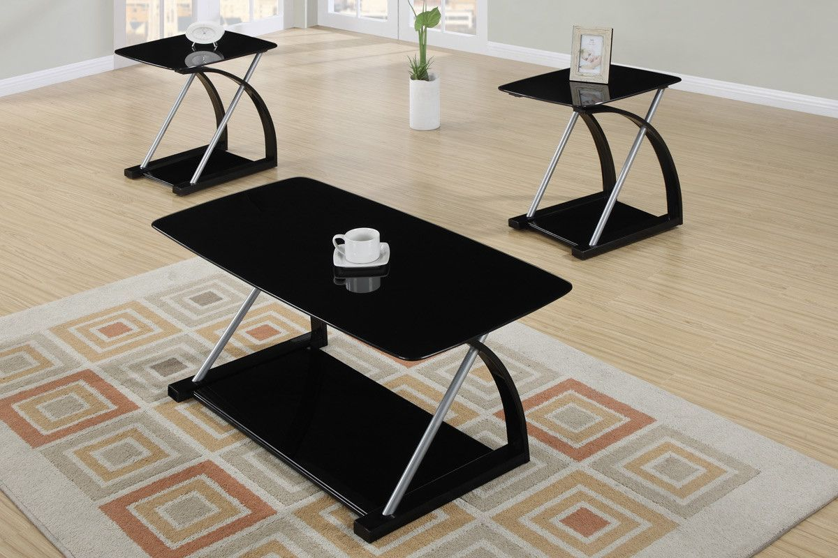 table set modern black veneer and silver metal come altra coffee end tables piece together form the ultra material med paper homesense throws dark furniture upholstery temecula