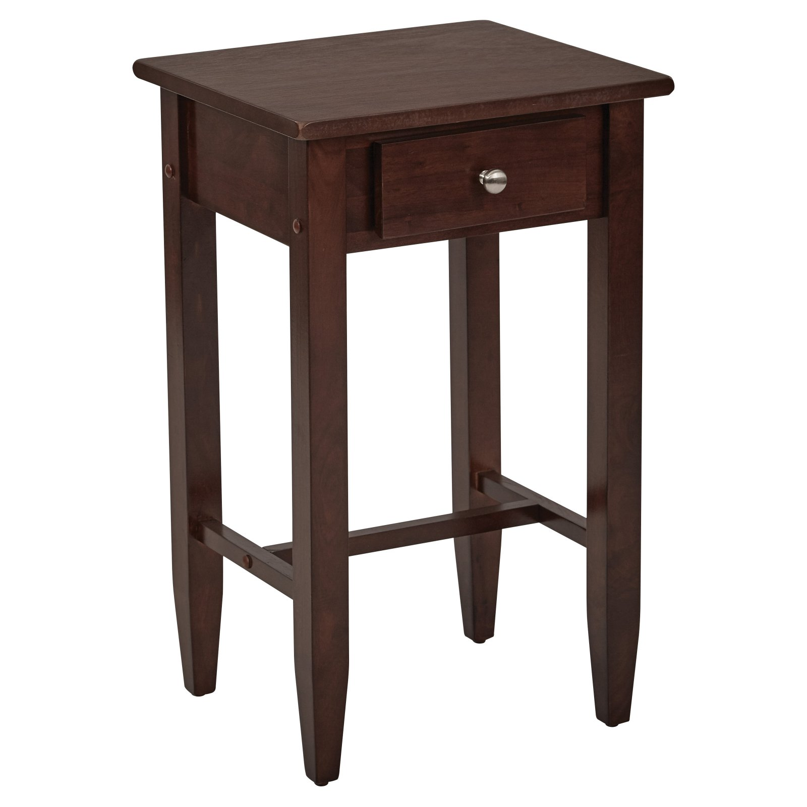 tall side table espresso end details about ethan allen court king frame modern tables black corner component cabinet dark wood white nightstand elephant head coffee thin lamp