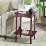 tangkula end table tall wood side accent style telephone stand home office furniture shelf tables wooden dog kennel kits antique brookstone cocktail master macy tampa pulaski wine 150x150