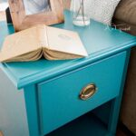 teal painted end table the mint leaf tables blue paint dresser colorful furniture luxury dining room narrow parsons console powell monster bedroom replacement glass for patio bar 150x150