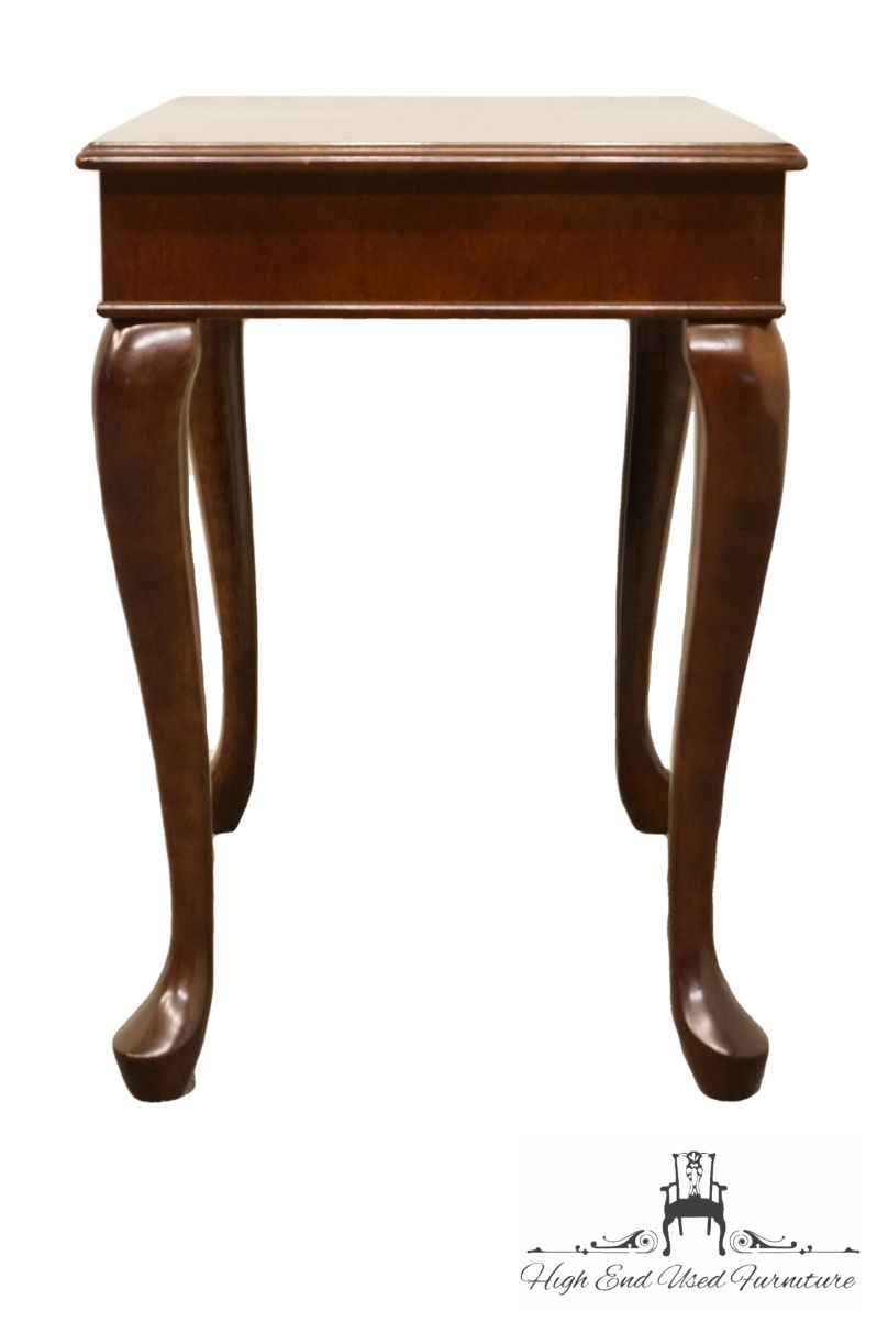 the bombay company queen anne banded mahogany end accent table how much space between sofa and coffee inch high console condo furniture vancouver pulaski san mateo barnwood