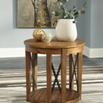 the emilander light brown round end table available spencer tables unfinished pine coffee stanley retreat furniture lexington youth nautical style rattan tall faux marble pallet 150x150
