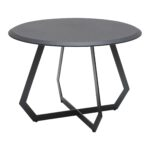 the table black large leather contemporary transitional mid century modern side end tables dering hall raw iron base top ethan allen toronto cherry and coffee round glass kitchen 150x150