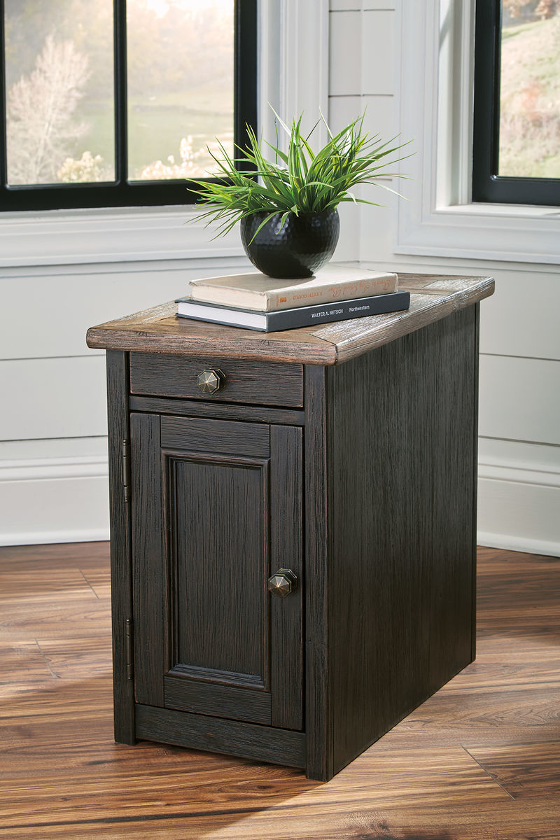 the tyler creek grayish brown black chair side end table available tables granite and wood coffee gloss lamp diy plum pipe industrial with drawer target mirrored furniture tile