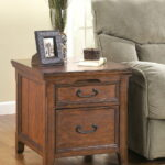 the woodboro dark brown media end table available home trends wood furniture and mattress jeff serving rocky mount glass sheet for coffee distressed ideas rectangular top dining 150x150
