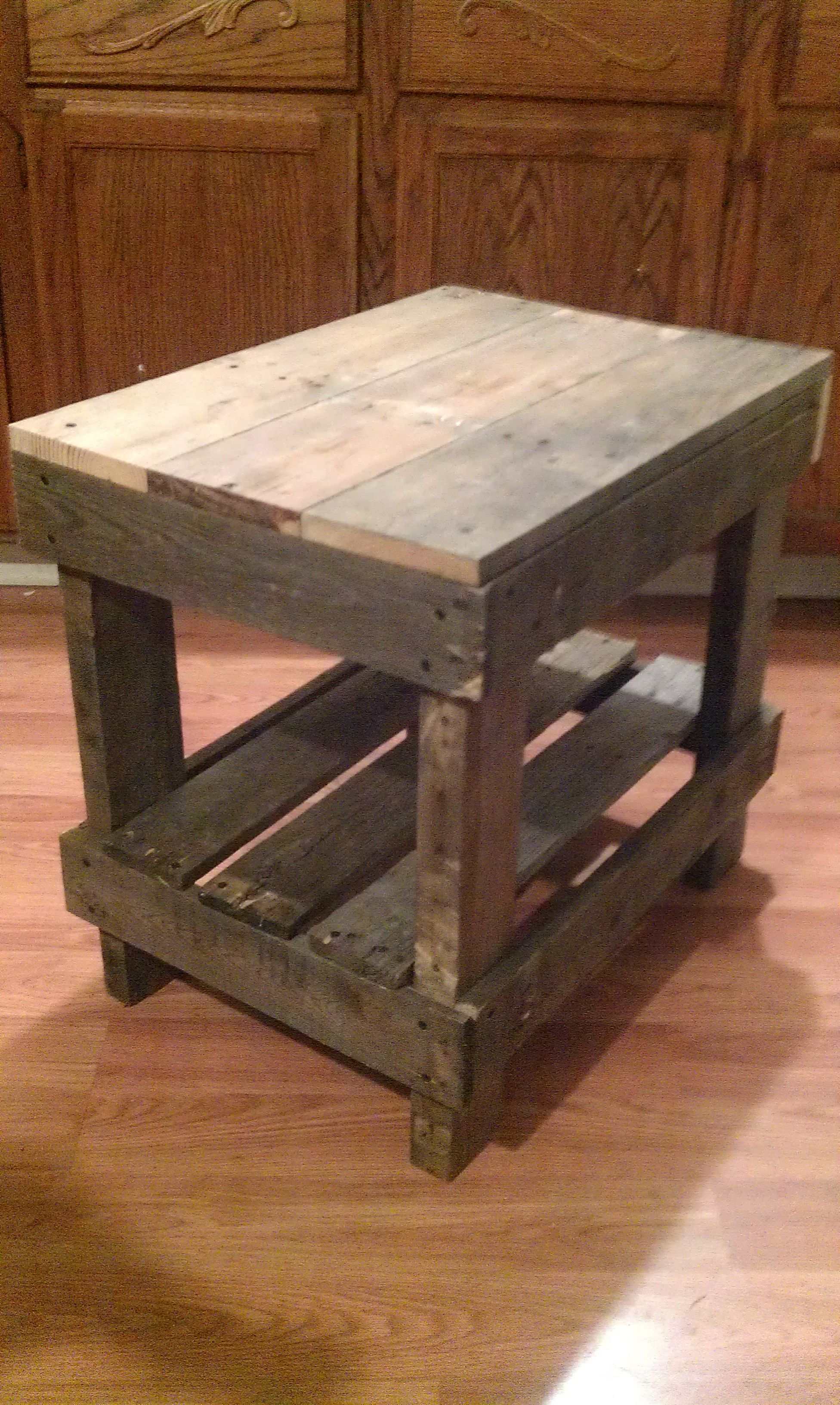 this one the end tables made from pallet wood pete diy top metal base coffee table laura ashley bar stools pulaski san mateo dining room set white night for bedroom furniture