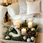 this turned out cute fill tray with candles deer evergreen end table christmas decor pine cones and ornaments north shore dining room furniture lack sofa white dresser mirror 150x150