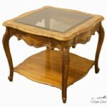 thomasville furniture french court collection square end lamp tables table extra large wooden dog crate stone look coffee magnolia home furnishings retailers wood nesting lazy boy 150x150