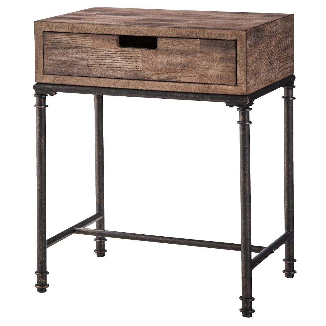 threshold mixed material side table patchwork home makeover riva end painted black diy crate frame chinese sofa leick furniture favorite finds unfinished entertainment circular