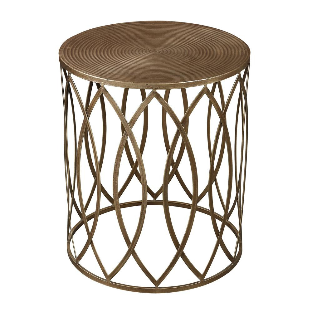 titan lighting sutton gold and antique champagne end table paint with tables house fraser coffee mission style oak bedroom furniture thomasville parts uttermost stratford white