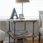 top excellent diy end tables future apt stuff cool they all pretty but favorite the one tured here iron pipe fittings large black gloss coffee table better homes and gardens 150x150