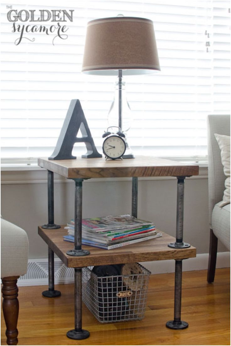 top excellent diy end tables future apt stuff cool they all pretty but favorite the one tured here iron pipe fittings large black gloss coffee table better homes and gardens