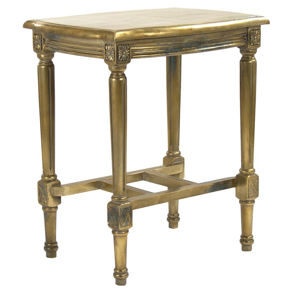 tremain french regency antique gold end table kathy kuo home product galvanized pipe coffee magnolia retail wood pallet patio kmart kids room house fraser tables painted oak and