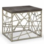 tribeca contemporary distressed silver and smoke grey end table rectangular tables free shipping today oval maple coffee pallet furn threshold furniture assembly instructions 150x150