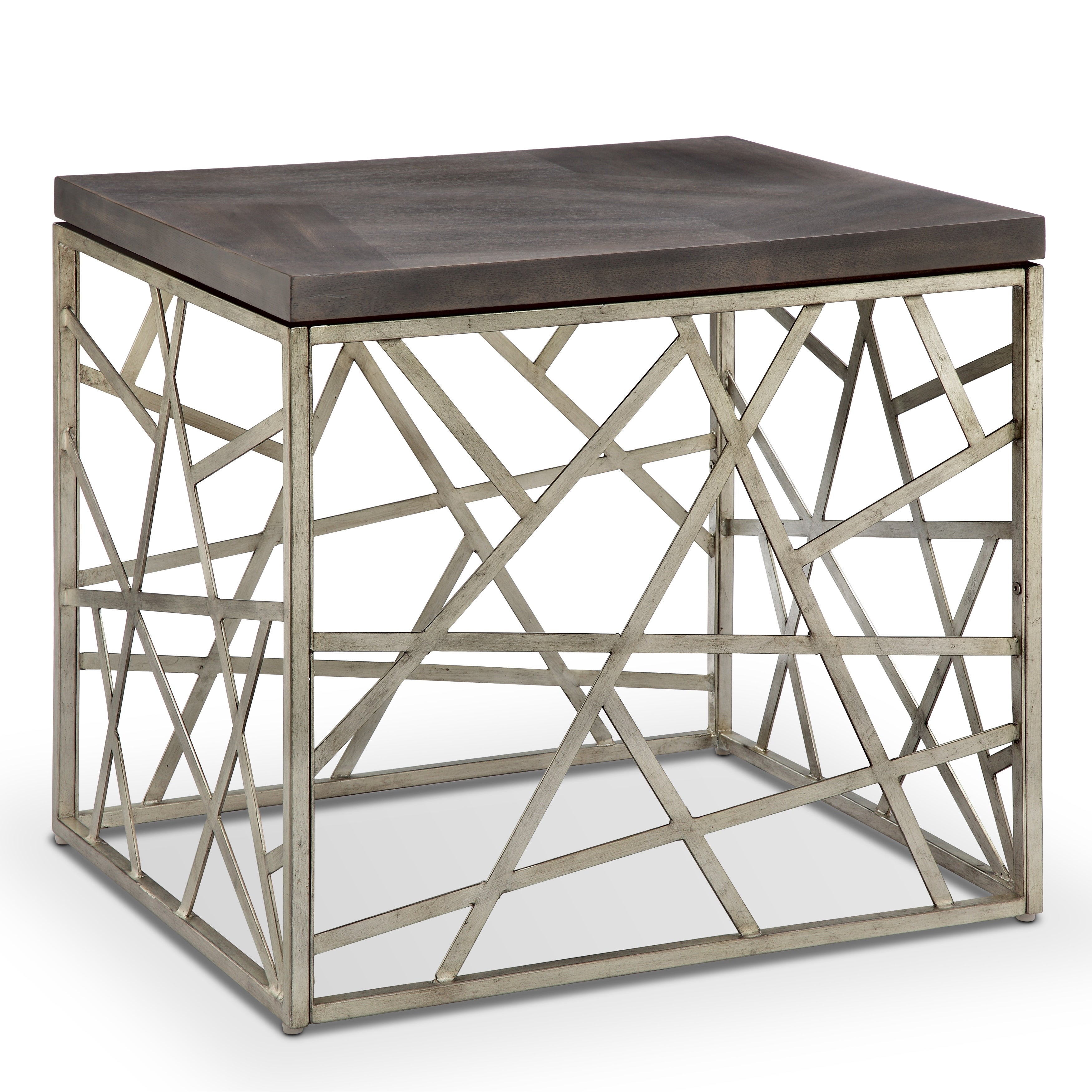 tribeca contemporary distressed silver and smoke grey end table rectangular tables free shipping today oval maple coffee pallet furn threshold furniture assembly instructions