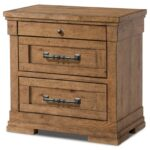 trisha yearwood home collection klaussner coming cozy three products color elkton end table drawer nightstand with power strip and wire management sofa beds leick mission 150x150