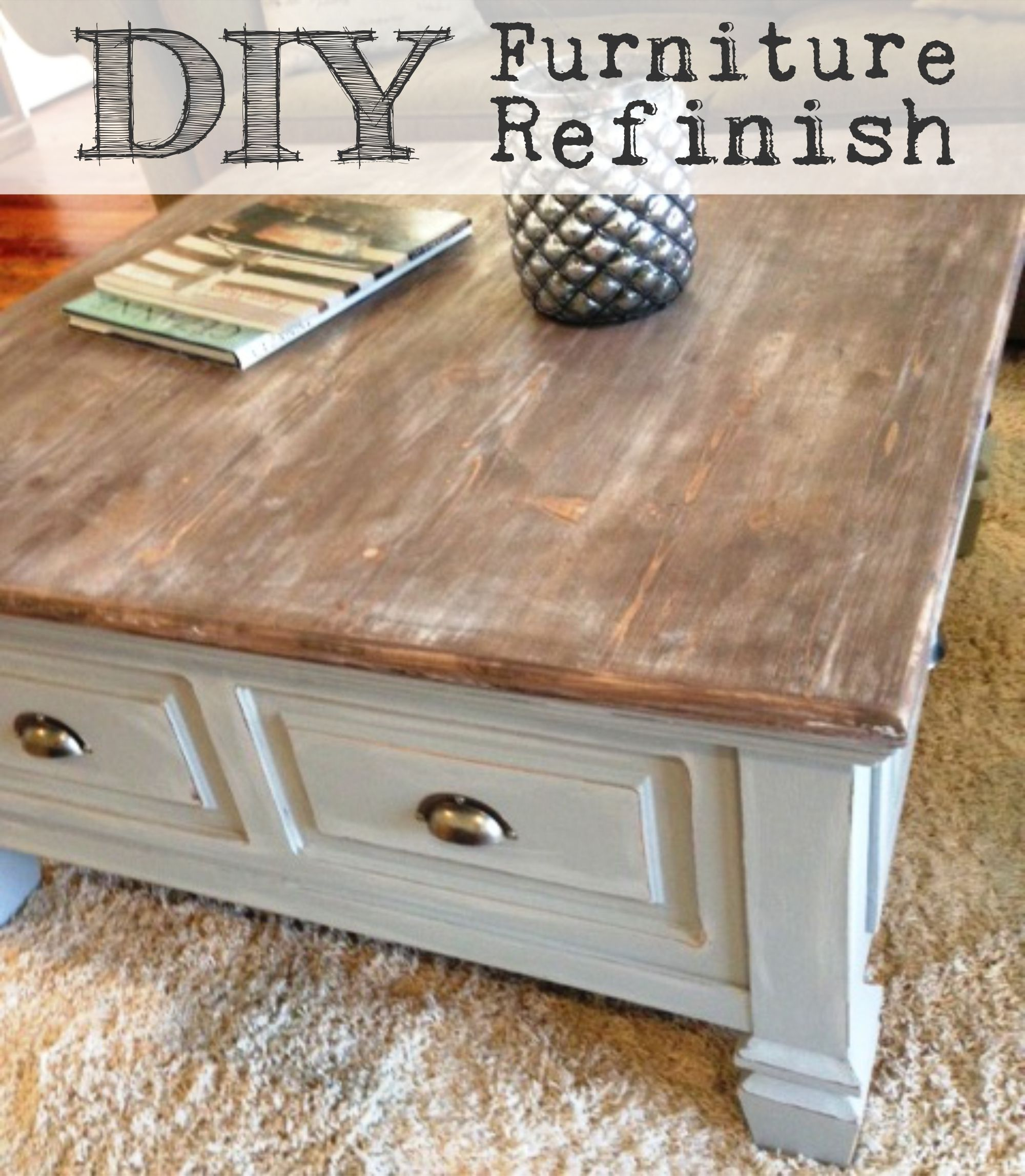 turn your plain furniture into farmhouse fabulous diy table refinish end tables refinished house projects black iron etsy mid century coffee cream wood metal rectangular patio