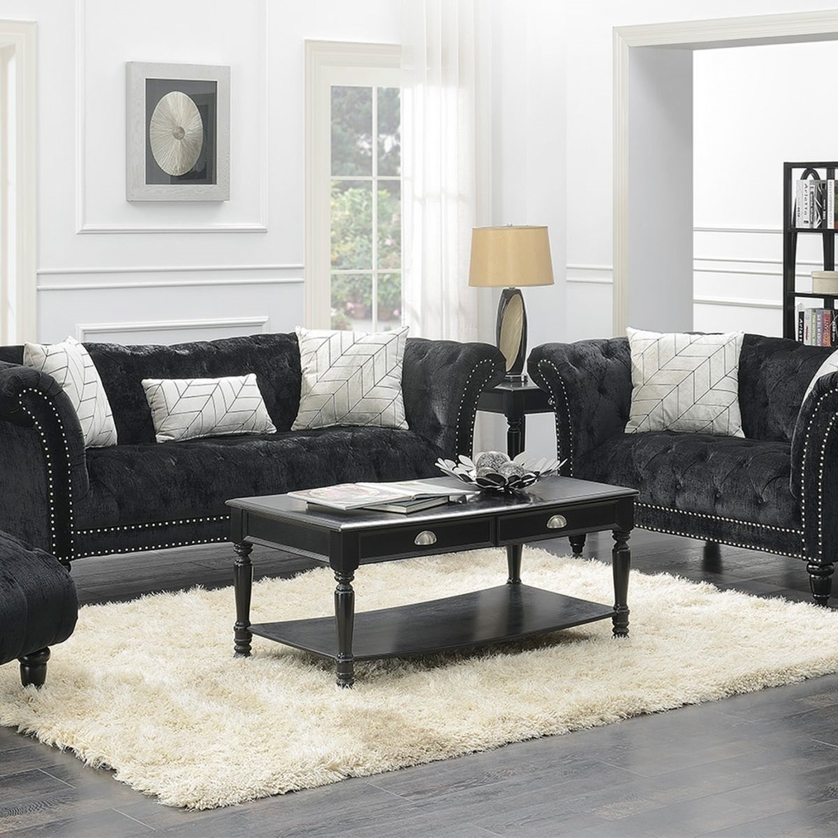 twain black sofa loveseat badcock more end tables ture table front window crystal bedside lamps small tall coffee white wood set unfinished furniture san bernardino corner