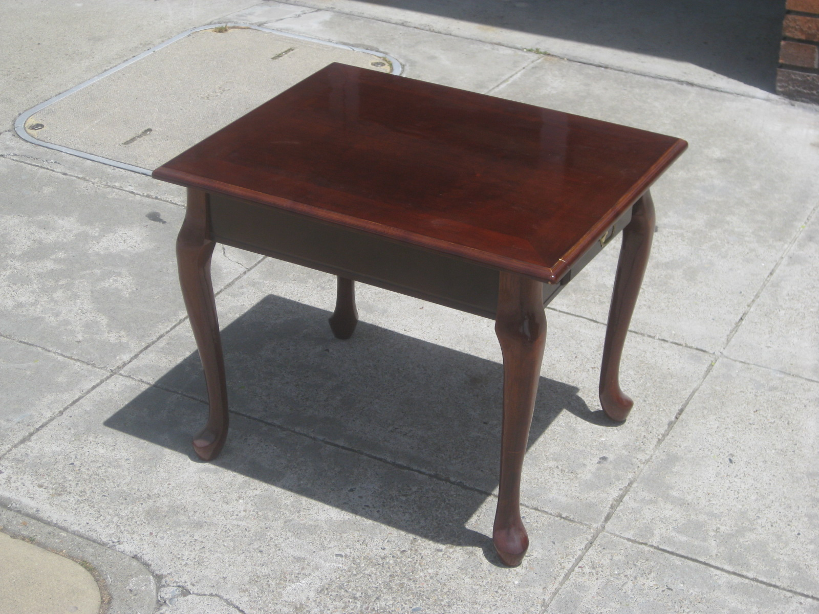 uhuru furniture collectibles sold square queen anne end table ashley good living room paint ideas brown couches parsons side ethan allen pine trestle diy big dog house universal