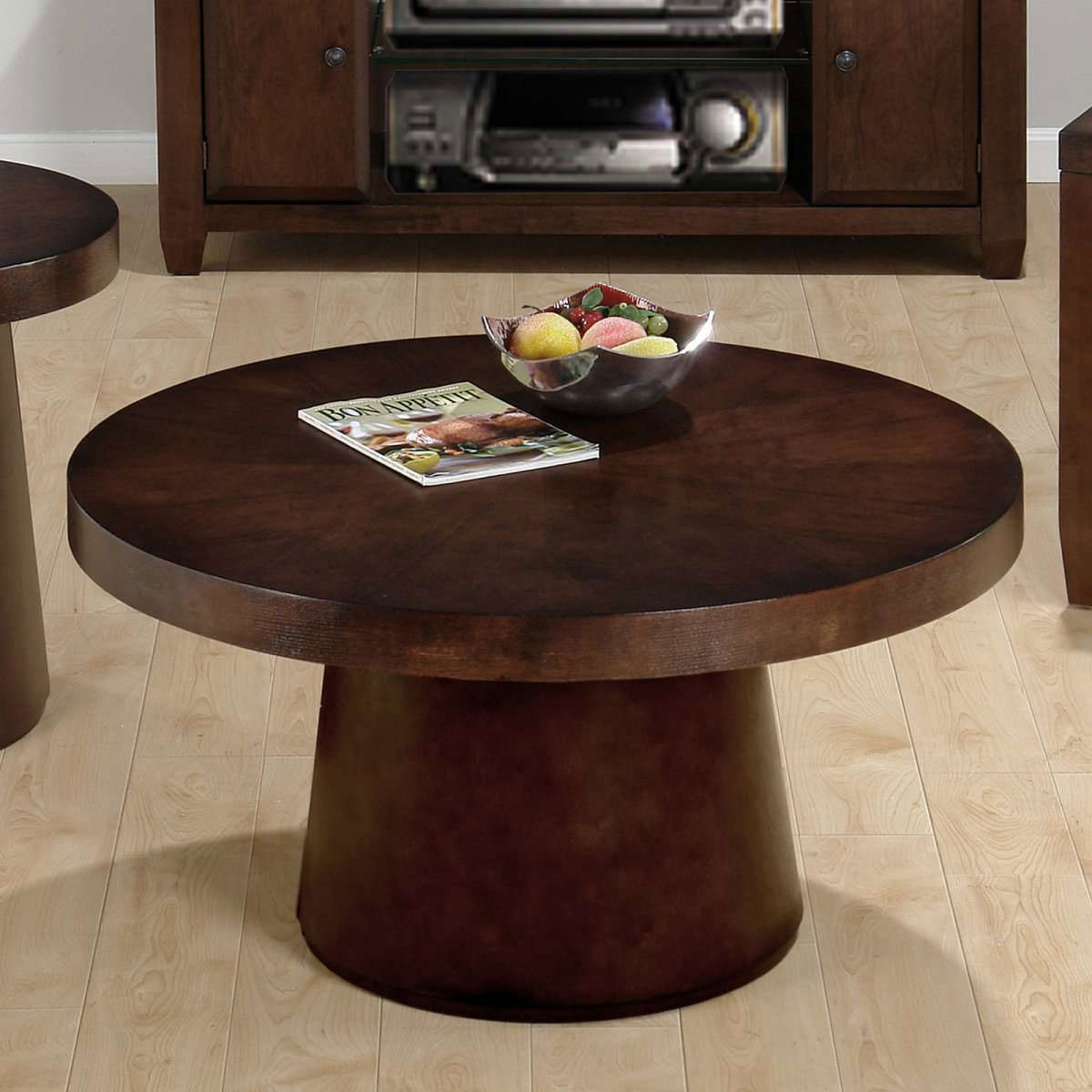 unique round coffee tables the new way home decor small black wood end table lamps and floor north shore armoire ashley millennium untreated furniture leons dining sets sauder