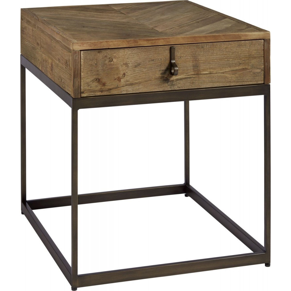 universal furniture curated langston end table rustic elm angle tables indoor lighting west wall decor log living room royal uae console with chairs underneath distressed wood mid