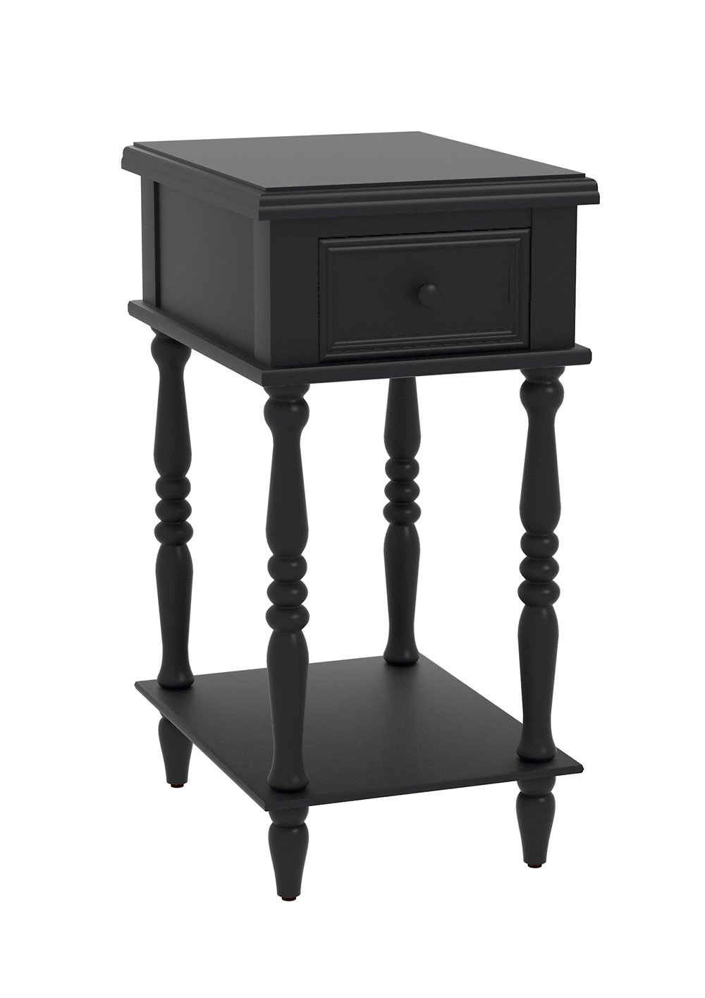 urbanest adams accent end table with drawer inch tall black kitchen dining metal coffee drawers distressed wood set glass legs top room unfinished furniture feet white farmhouse