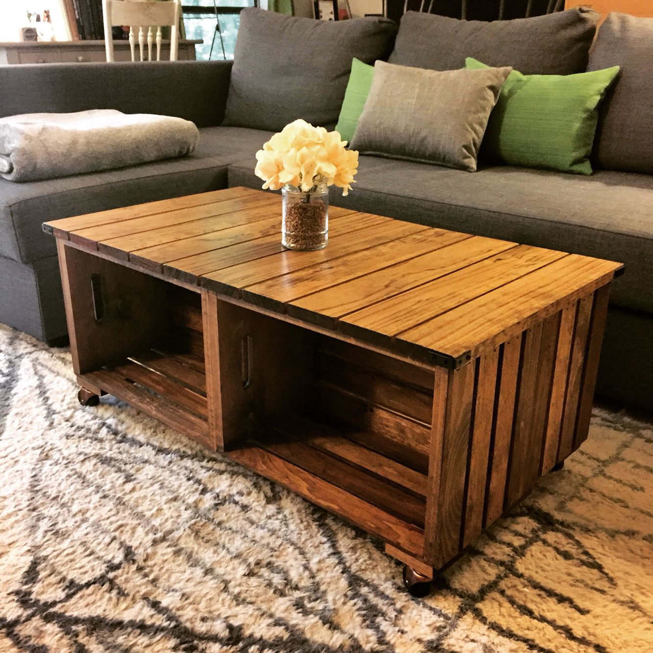 used end tables our diy wood crate coffee table how did crates from craft and some good the hardware white side glass curio cabinet corner orthopedic luxury leather dining chairs