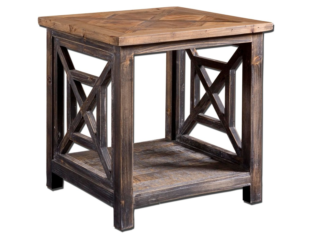 uttermost accent furniture occasional tables spiro rustic products color end cottage table small black garden side ashley north shore sofa powell butler glass top cocktail metal