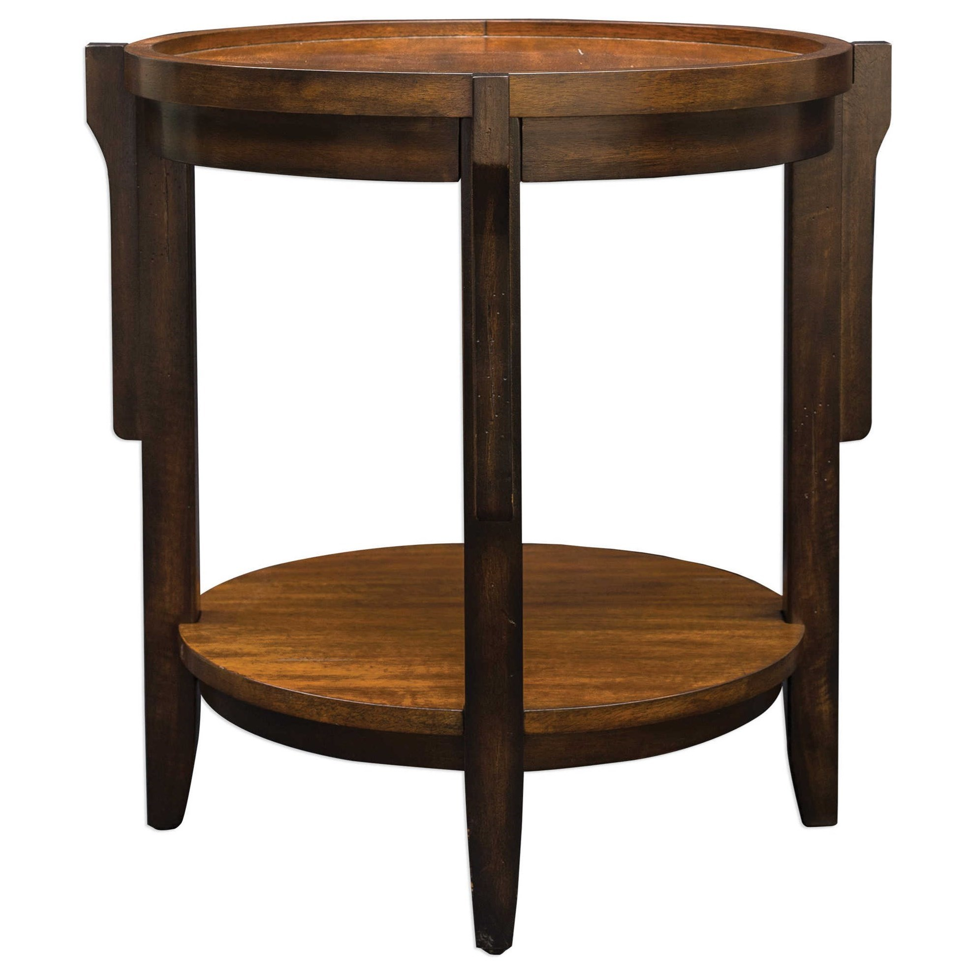 uttermost accent furniture sigmon round wooden end table bronze cream colored tables oval nesting iron glass side leons winnipeg storage ideas black pedestal white living room