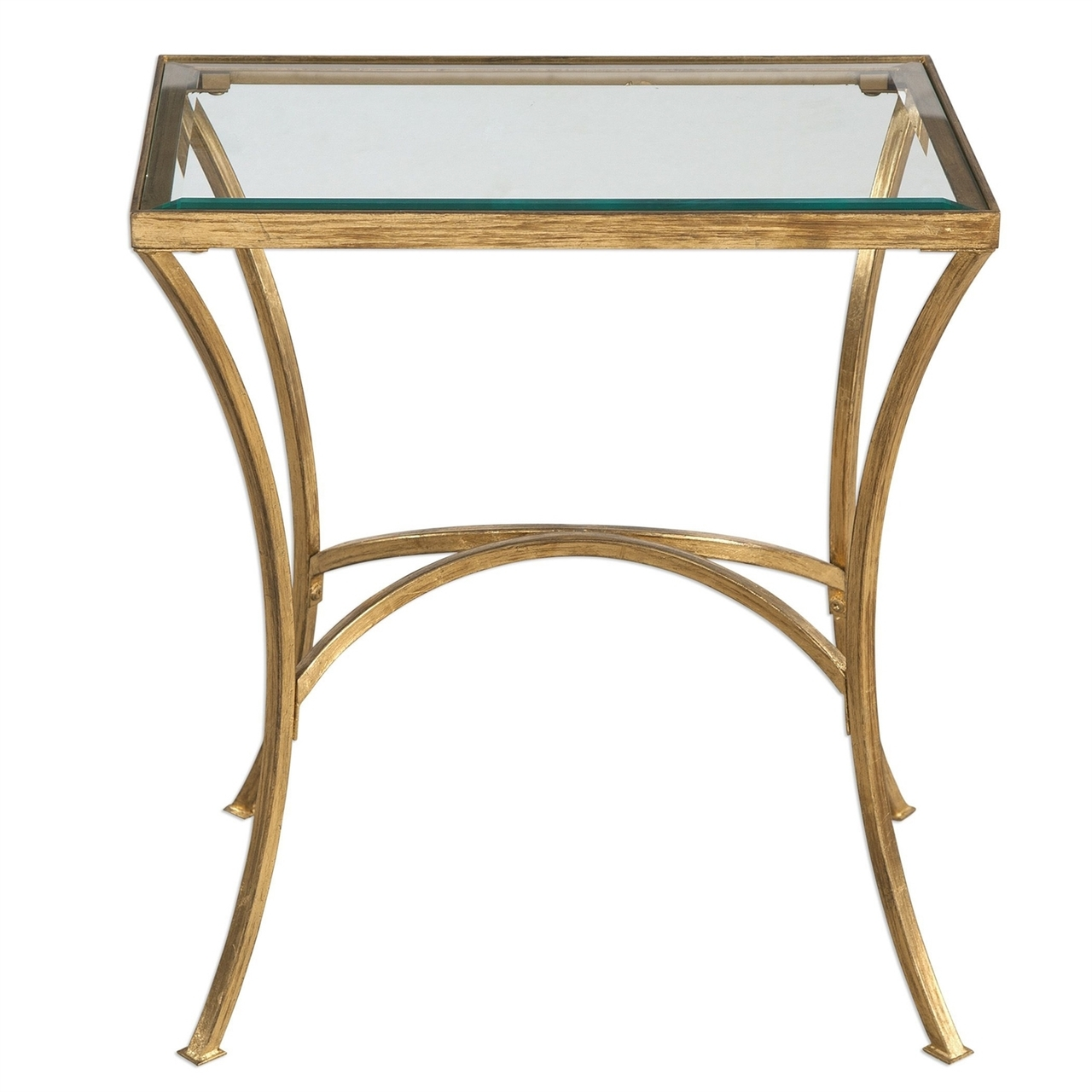 uttermost alayna gold end table traditional decor elegant furniture dstuc tables modern ideas broyhill patio chairs pallet garden magnussen karlin powell mirrored nightstand oak