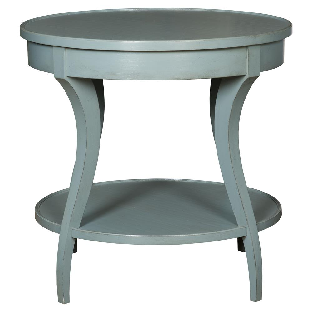 vanguard ella coastal rustic teal blue round wood end table product kathy kuo home grey nightstand diy pet furniture blocking window with black bedroom country white console