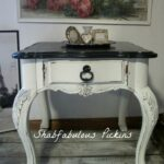 vintage broyhill french provincial end side table shabfabulous tables shabby painted furniture cottage decor farmhouse ashley porter living room galvanized pipe threader outside 150x150