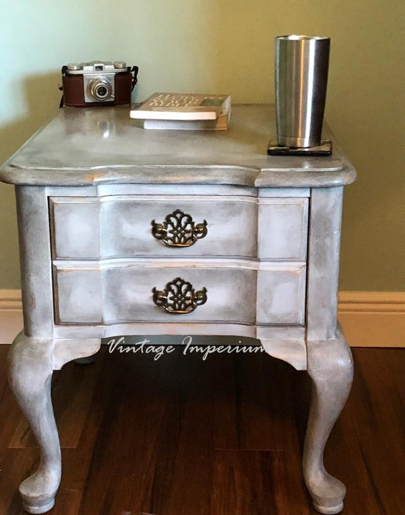 vintage broyhill nightstand end table with drawerside etsy tables round mirrored side diy distressed cabinets black square coffee storage decorating tips oval foyer acme fine