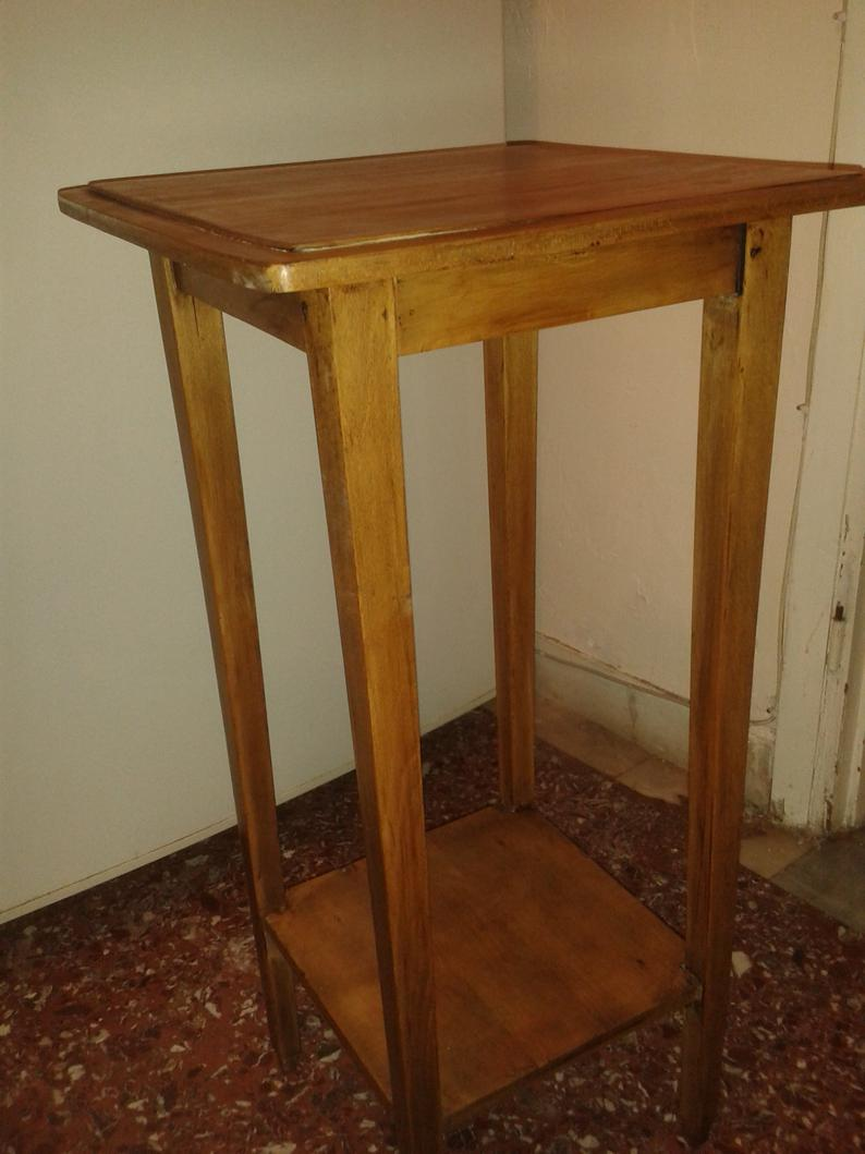 vintage elegan tier plant stand occasional table end tables etsy unfinished dresser drawers decorating tips placing furniture front fireplace cream and glass coffee country living