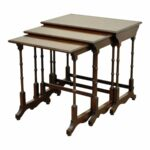 vintage ethan allen court solid cherry nesting nest side end tables chairish iron glass table tall dining room oak magnolia farms show small square outdoor diy indoor puppy pen 150x150