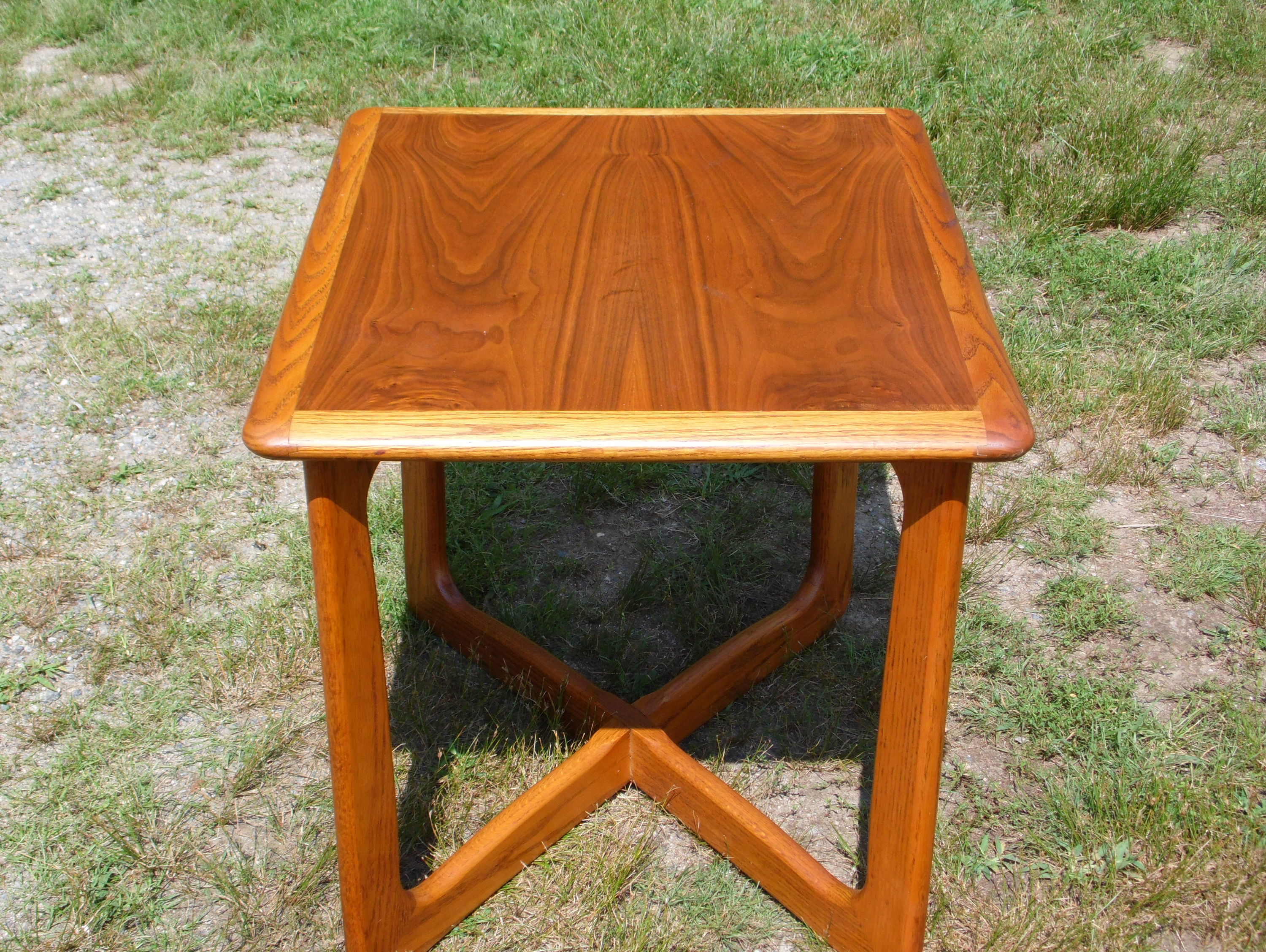 vintage mid century modern lane perception base walnut end table foot sofa side chinese north shore ashley furniture stylish accent unfinished wood chest drawers styles cherry