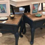 vintage shabby chic painted navy blue end tables side etsy fullxfull pkzs table lodgepole pine furniture placement magnolia home mirror chaise lounge sofa ashley country french 150x150