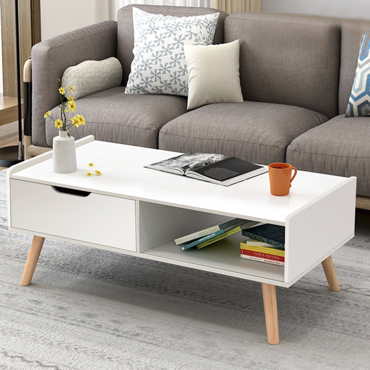 way modern coffee table side end cabinet with tables and drawers solid wood legs top metal newburgh console small cream lamp inexpensive bedside ideas fabric under glass mainstays